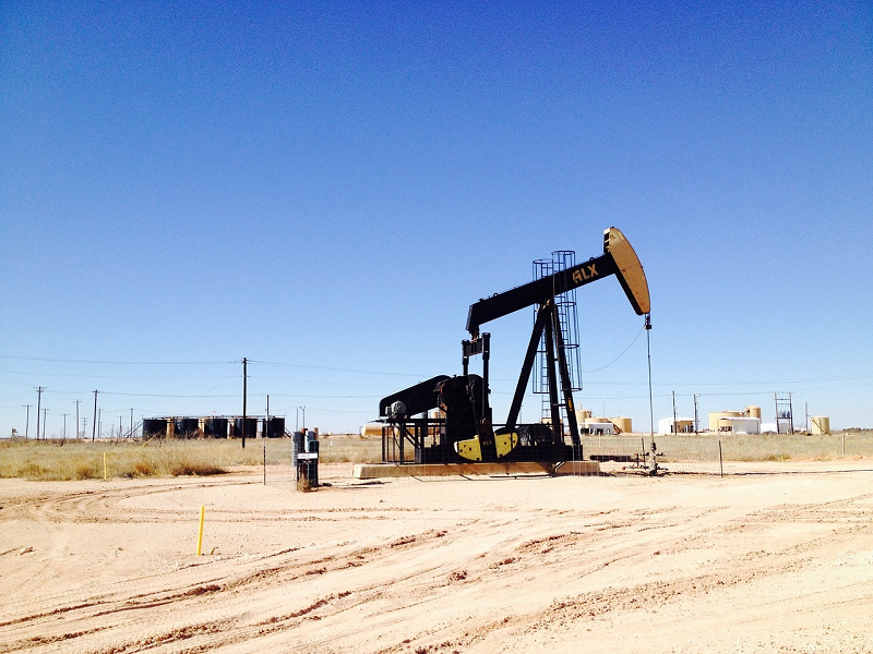 Fracking rig on cleared land- Keystone ETS explores whether fracking increases radon gas