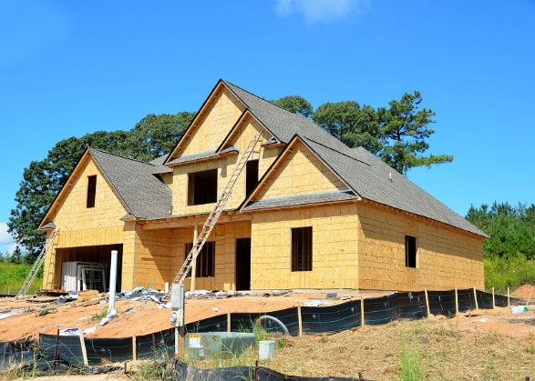 Radon Resistant Construction Can Help Reduce Exposure to Radon - Image of New home construction site - Radon-Rid LLC