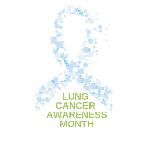 Lung Cancer Awareness Month white ribbon- Radon-Rid