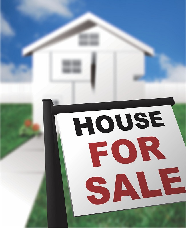 """Image of """"for sale"""" sign in front of house   Is Radon Testing Necessary   Radon-Rid, LLC"""