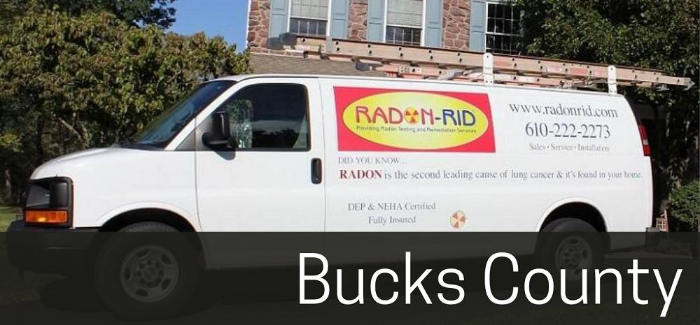 Radon-Rid van in front of home | Bucks County